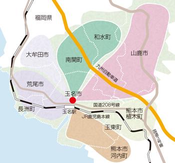 スクールバスの地図の写真